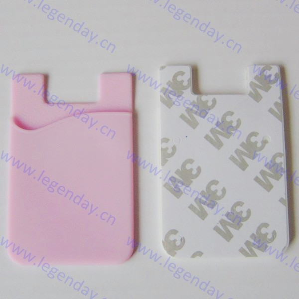 2015 promotion gift custom logo alibaba cheap price silicone smart cell phone card wallet