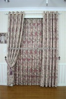 Home decor latest designs of fancy floral printed curtains