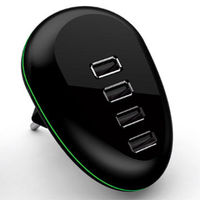 USB fast charger with intelligent auto detect technology, mobile phone charging station with CE/FCC