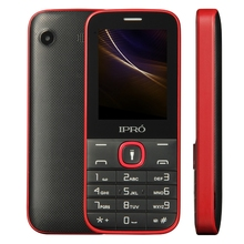 "IPRO New model i324F 2.4"" inch QVGA multi colors feature mobile phone Mini Handphone with 1000 mah big battery with torch"