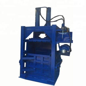 LH waste carton paper ,plastic pet Bottle Baler Machine / hydraulic full automatic baler press