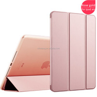Flip leather stand Best Price folding tpu edges cover standing pu leather soft edge tablet cover for Ipad air/for Ipad 5