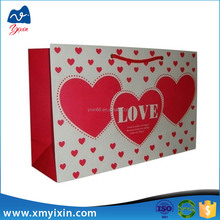 Big Heart Wedding Paper Bags Gift Bags for Valentine Day