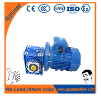 Large radial loading ability Keyed Hollow Shaft worm gear speed reducer with ac electric motor