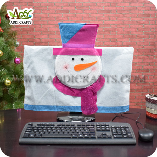 Christmas Snowman Computer Cover Monitor Dust Cover