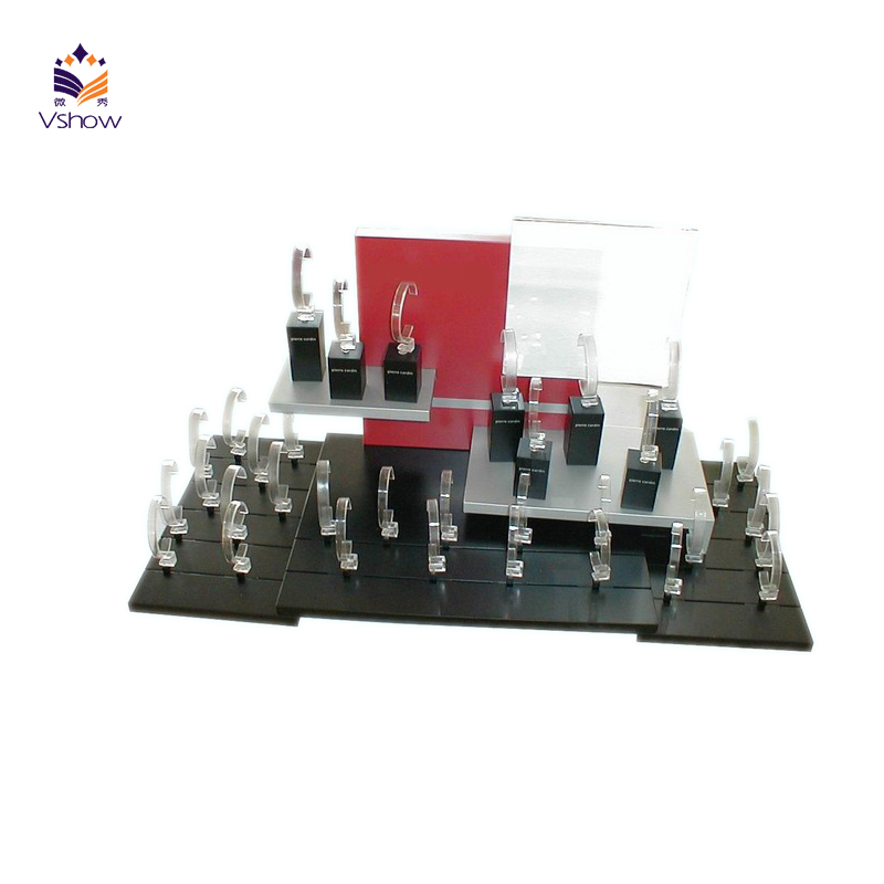 Floor Stand Cardboard Shopping Exhibition Jewellery Display Kiosk,