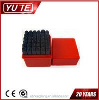 China manufacturer 7MM 36PCS number and letter punch set