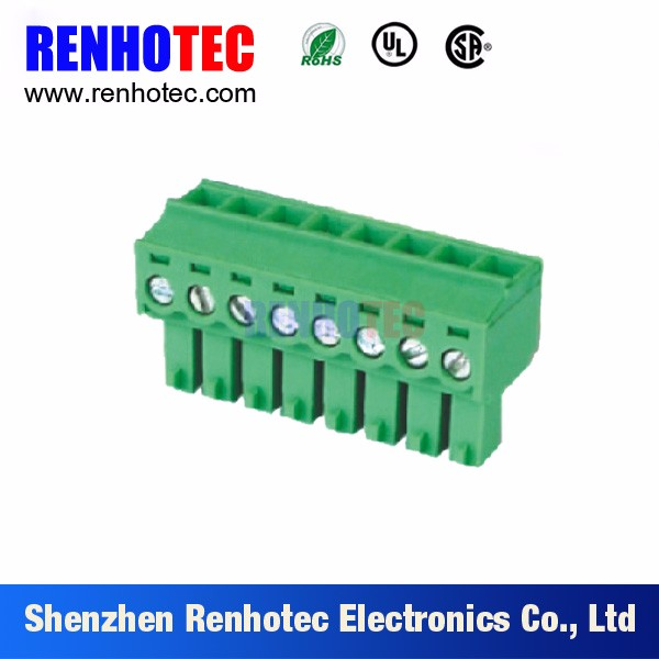300V 8A Electrical Plastic Pluggable Type Terminal Block Male and Female Plug in PCB Electronics Wire Connector