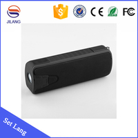 wholesale rechargeable mini portable amplifier speaker bluetooth with power bank flashlight
