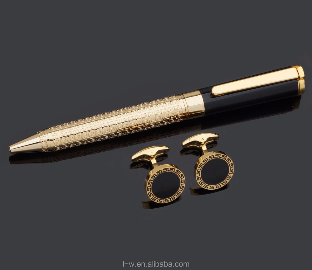 2017 Fancy Cufflinks Pen Set For Men