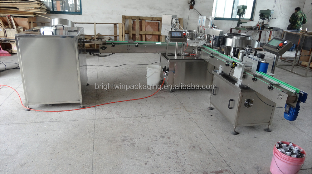 manufacturer sale electronic cigarette oil filling line with video
