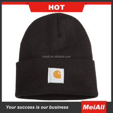 Wholesale Custom Winter Mens Carhartt Beanies Knitted Hat With woven label