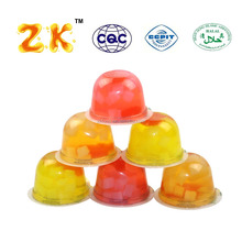 Mix fruit flavoured big jelly halal snack cup jellies