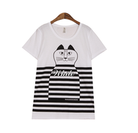Wholesale Bulk Buy Clothing in Black and White Stripes T-Shirt for Woman