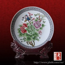 Modern style excellent quality flower craft porcelain plate for home collection