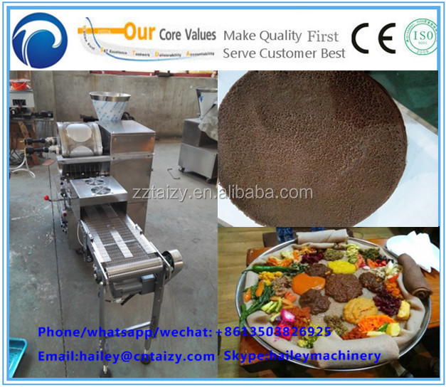 Injera machine/making tortilla injera spring roll what'app:008613503826925