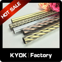 KYOK home decortation metal curtain pole ,length 5m curtain rod wholesale ,double curtain rods factory in China