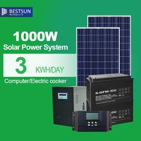 portable solar power mini generator 220V 1000w solar powergenerator for home / industrial use