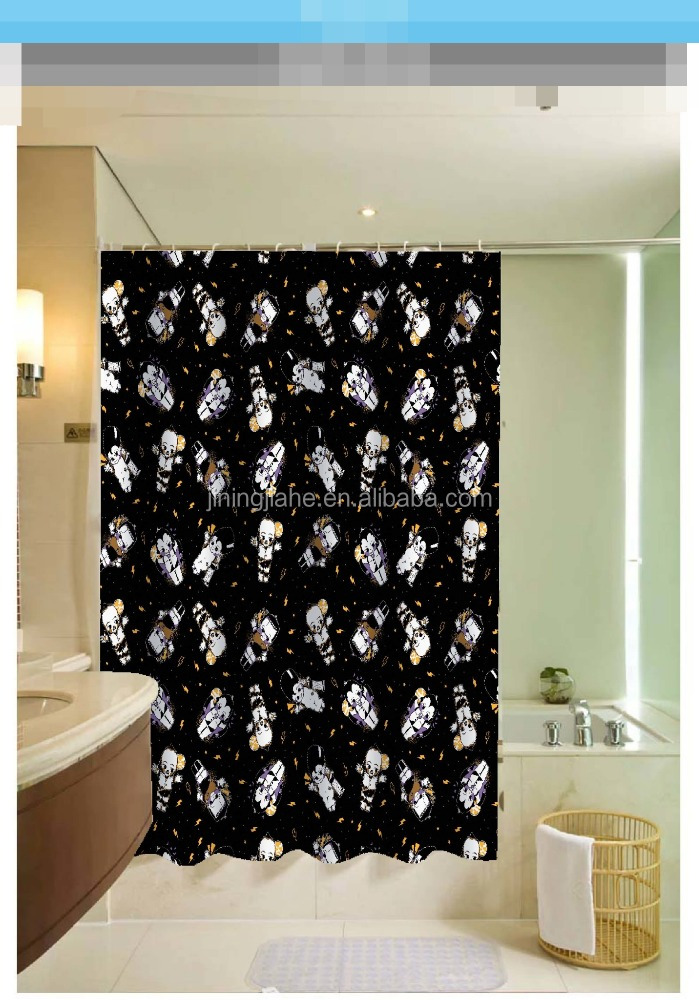 2016 lovely baby printed 100% polyester shower curtain for hotel, family, waterproof bath curtain