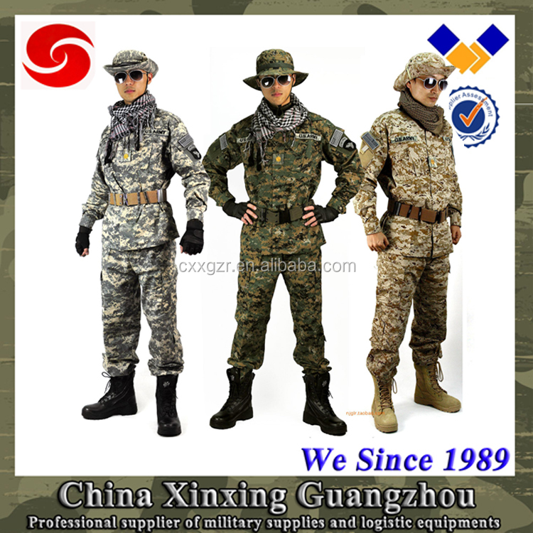 Custom color new army uniform pattern camouflage military uniform sale