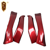 Universal carbon fiber front bumper lip car body kits fit for NISSAN TIIDA