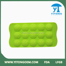 Welcome OEM Logo Unbreakable Two Color Silicone Ice Cube Tray