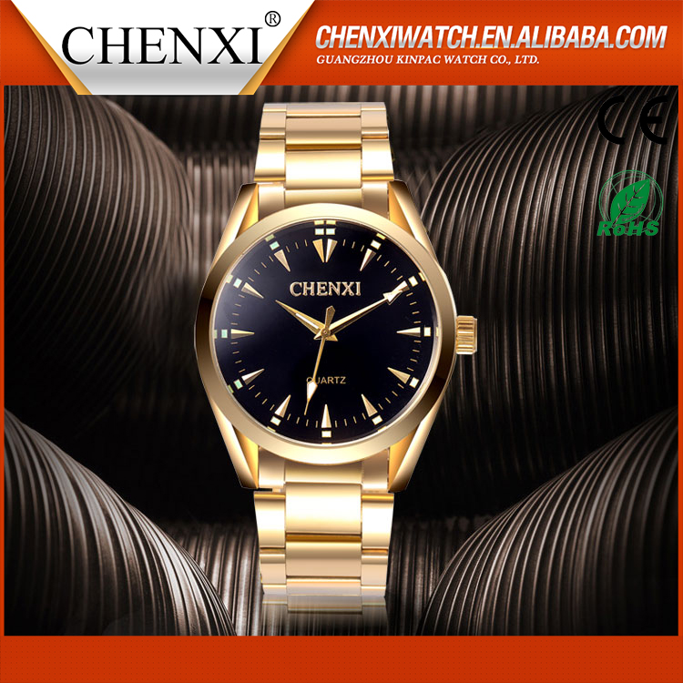 Best Quality Custom Logo Quartz Vogue New Gold Watch Men