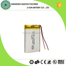 Small Rechargeable Li-polymer 303450 3.7v 500mAh Battery