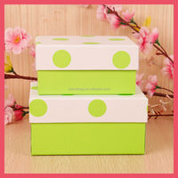 green color customized size paper gift packing box