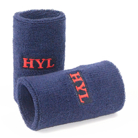 HYL-Towel wrist support terry cotton custom embroidered sweatbands for sports