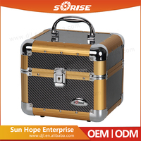 2016 Sunrise Aluminum Carry-On Light Beauty Case with 4 Trays Makeup Cosmetic Jewelry Box