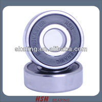 Spin 5 minutes 20 seconds 608 rubber seal black ball Si3N4 ceramic hybrid long board sk8 bearing