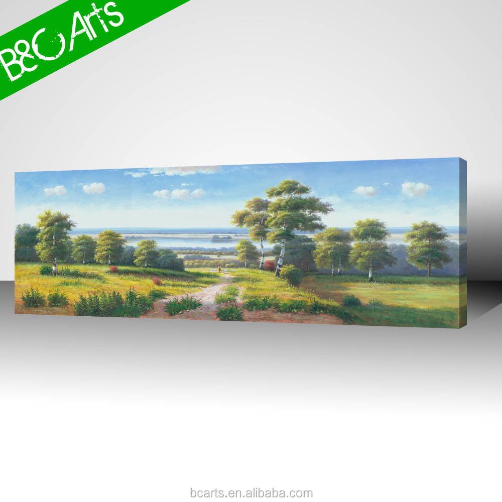 Lively scenery blue sky landscape art painting digital image print on canvas
