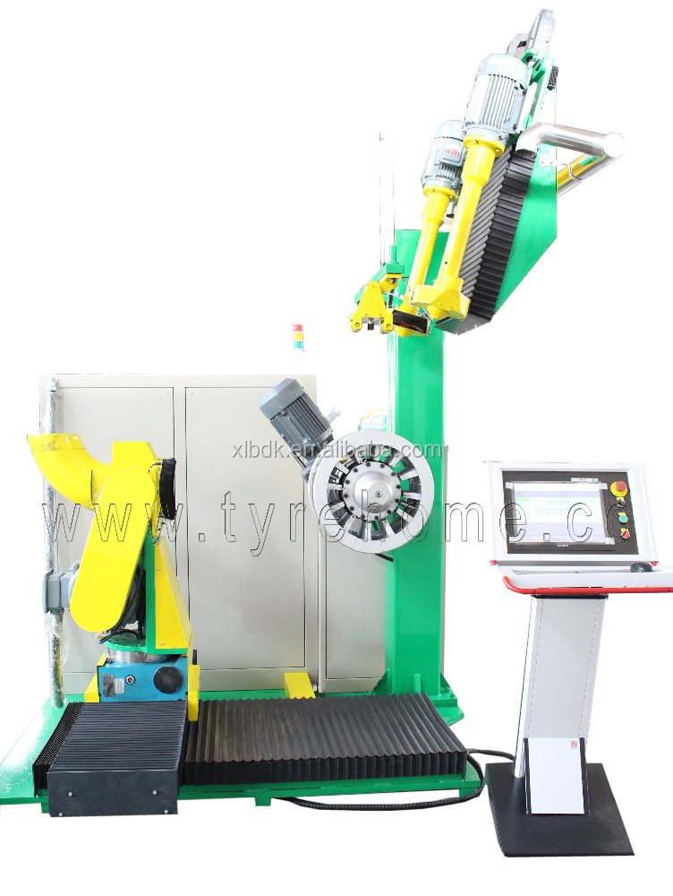 Automatic buffer -Tire retreading machine