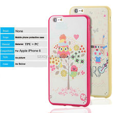 PC TPU hybrid 3D UV printing cartoon mobile phone case for iPhone 6 6 plus