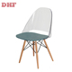 DHF New Design cheap plastic dinning cafe chair