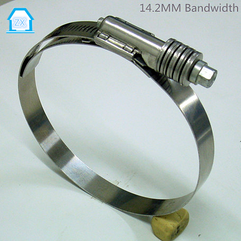 14.2mm 10-180mm high pressure safety hose clamp sizes in American price
