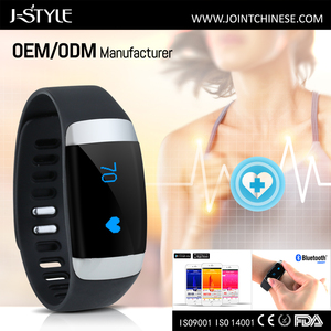 J-Style bluetooth 3D sensor ECG wristband with heart rate monitor sleep monitor step distance Calories counter for IOS & Android