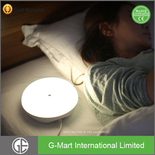 Motion Sensor Silicone Night Light 2 port usb Table Lamps For Bedrooms