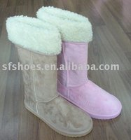 2012 Winter Fashionable Flat Half Fuzzy Snow Boots