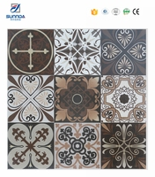 Sunnda 30x30 shower matt ceramic floor moroccan tiles