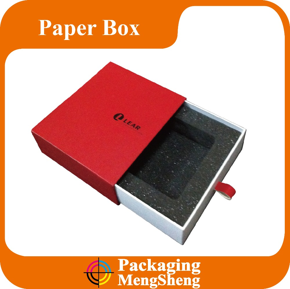 Beautiful Velvet Inside Padding Paper Drawer Slide Gift Packaging Boxes