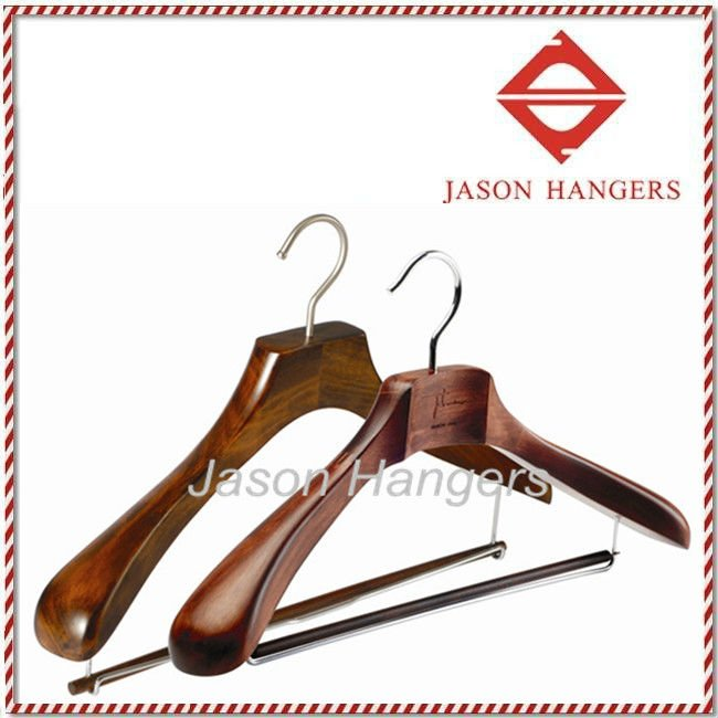 DL0890 Garment usage antique custom wooden suit hanger