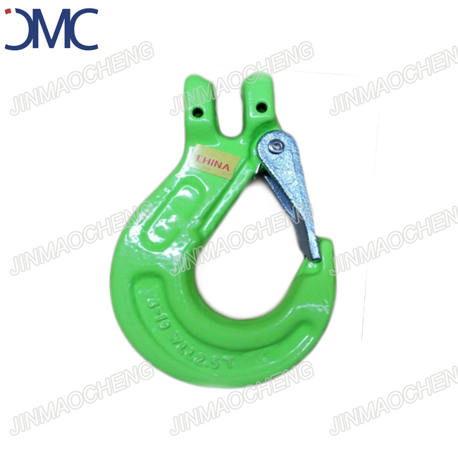 Painted Green alloy Forged Clevis Sling Hook safety latch