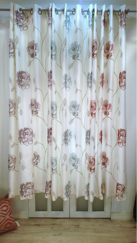 embroidery beaded automatic roll window curtains guangzhou