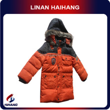 china hot sale high quality boy's faux fur trim goose down jacket wholesale designer clothing for kids manufacturer supplier