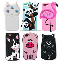 3D White Cat ,Panda,Piggy Animal Silicon Cell Phone Case for IPhone 5 6 6S 7 7plus 8 8plus