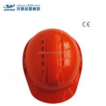 lightweight safety helmet ce certificate with chin strap with ratchet /buckle red colors ABS