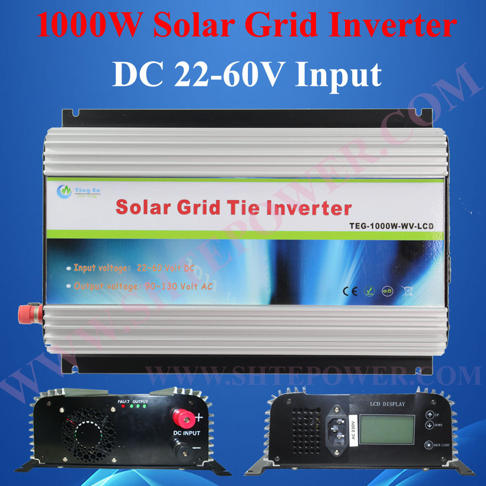 1000W Grid Tie Solar Inverter with LCD display DC 22V~60V to AC 220V 230V 240V 1kw inverter solar