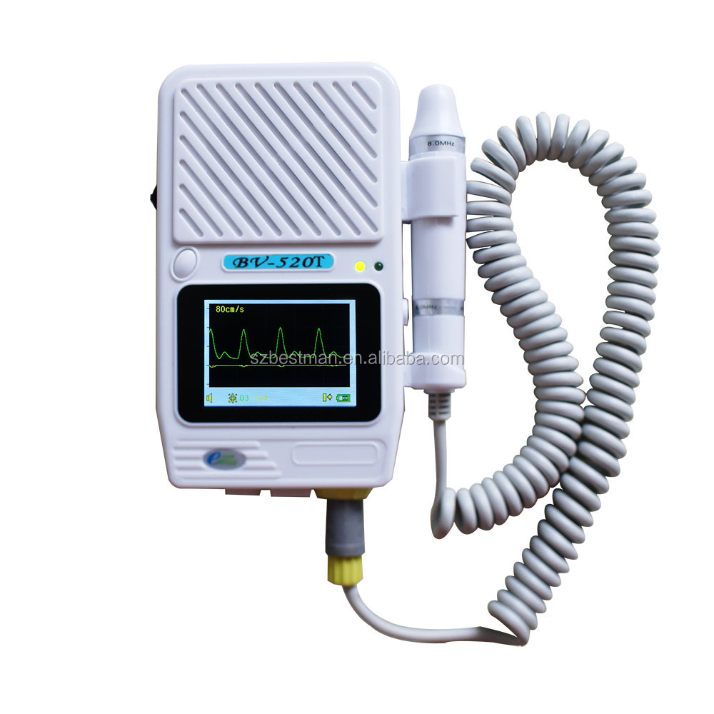 updated vascular doppler BV-520T+ vascular doppler ,easy to carry 8 MHz probe detect blood stream status of arterial venous